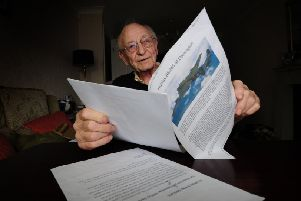 Dave Bastow witnessed the Darrington air crash over 75 years ago. Picture: Simon Hulme
