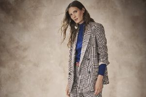 The check blazer (with matching trousers) is another key look  from M&S AW19