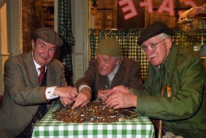 Last of the Summer Wine (L-R) Peter Sallis (Clegg) Bill Owen (Compo) and Brian Wilde (Foggy). Picture: PA Wire.