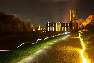 Fountains Abbey is to be illuminated this autumn