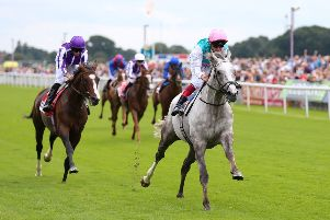 Frankie Dettori's mount Logician is favourite for the St Leger after winning York's Great Voltigeur Stakes.