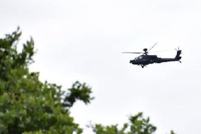 Huge Apache helicopters spotted flying low over the area
