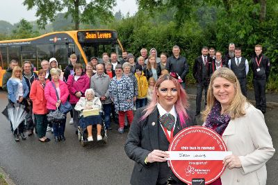 Trent Barton drivers name bus after much loved Sandiacre