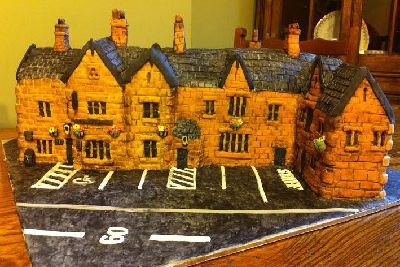 Julie Taylors Cake Version Of The Station Birstwith Which Has Never Been Cut Into