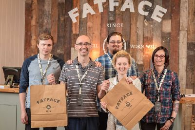 f7ef06f713 Fat Face opened its doors today in the former Burtons Store on Church  Street in St