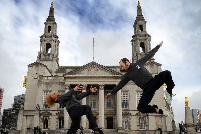 Northern School of Contemporary Dance jump for joy over