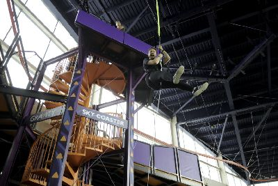 d0c91294680 Gravity Trampoline Parks will this weekend open a trio of Aerial Adventures  at the front of Xscape Yorkshire, including Yorkshire's first sky coaster  ...