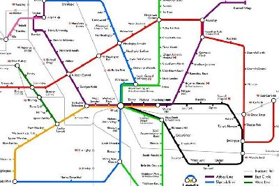 This is what a Leeds transport map would look like if we had a tube ...