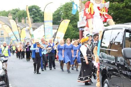 Folk music and dancing fills the streets of Cleckheaton during the 2019 event