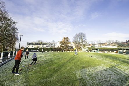 A frozen green greeted bowlers, who took part in the fifth Spen Winter Sweep last Saturday.
