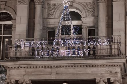 Dewsbury town centre's Christmas Lights