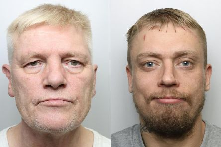 From left to right: Ian Pickard, 56, of Mill Bridge View, Sampson Street, in Liversedge and Stephen Turton, 33, of Dewsbury Road, in Leeds.