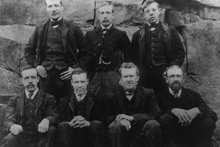 The seven miners who survived the Combs disaster in 1893.