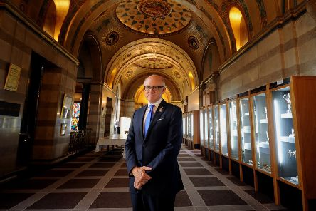 US Ambassador to Britain Woody Johnson, pictured at Leeds Civic Hall..25th July 2018 ..Picture by Simon Hulme