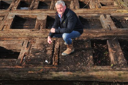 Welcome to Yorkshire garden designer Mark Gregory with the old lock gates.
