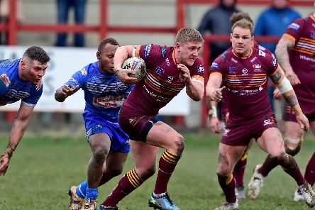 Jack Downs second-half try pulled Batley back into contention. PIC: Paul Butterfield.
