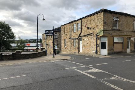 Police have cordoned off the roads near Dewsbury Bus Station. Pic: Ismail Mulla