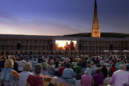 An artists impression from when The Piece Hall, Halifax was being regenerated