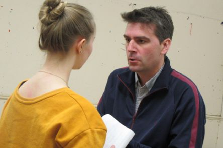 James Strath as Ross and Brianna Undy as Lady Macbeth.