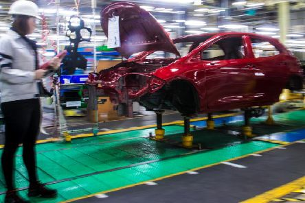 The deal will see Suzuki-badged cars being produced at Toyota's Derbyshire factory. Photo - Rod Kirkpatrick/F Stop Press
