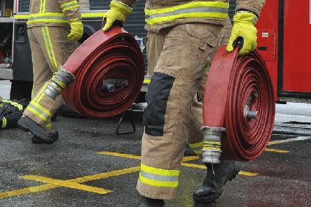 Derbyshire fire service was called out to a road traffic collision.