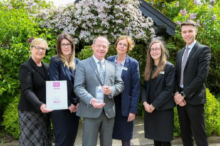 The team at Morley Hayes celebrate their award.