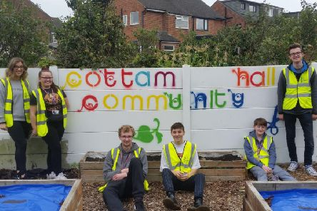 Blackpool Sixth Form students are helping to restore Cottam Hall playing fields in Poulton.