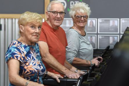 Joyce Stubbs, Gary Stubbs and Barbara Terry prove you are never too old to keep fit and enjoy life.