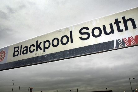 A dispersal order is in place at Blackpool South station