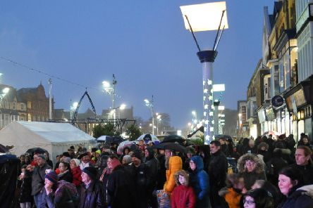 Crowds in St Annes Square for last year's Saturday switch-on