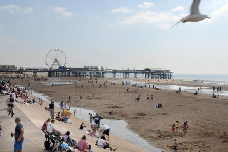 The crowds on Blackpool beach in August this year (Picture: Martin Bostock/JPIMedia)