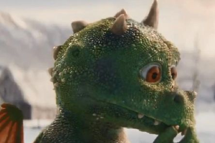 The star of this year's John Lewis and Waitrose, the exuberant young dragon called Edgar