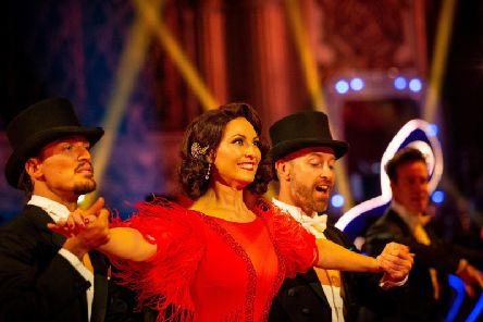 Emma Barton during a dress rehearsal for the BBC1 dance contest, Strictly Come Dancing ahead of last night's show Picture: Guy Levy/BBC/PA Wire)