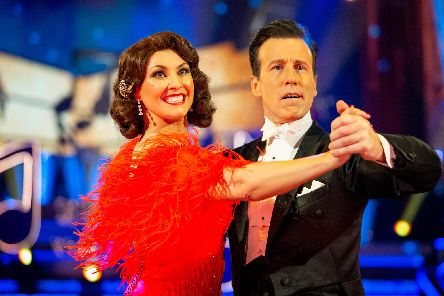 Anton Du Beke made history at Blackpool scoring his first ever 10s with dance partner actress Emma Barton picture Guy Levy