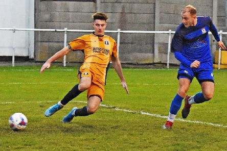 Jack Iley scored twice in Squires Gate's abandoned match     Picture: Albert Cooper