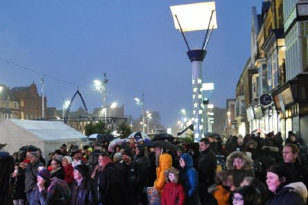 Crowds at last year's St Annes Christmas lights switch on