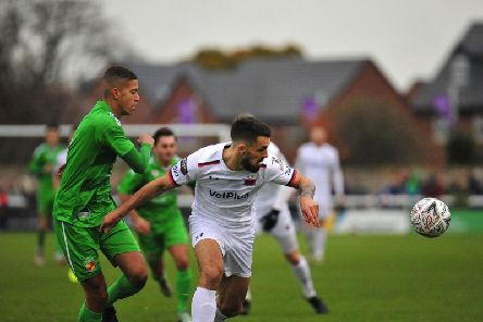Jordan Williams is happy to attack out wide or up the middle for AFC Fylde
