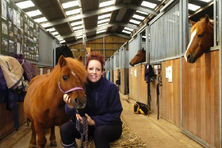 Penny Farm Horse Rehabilitation Centre. Pictured is Joanne Fulham with Dale.
