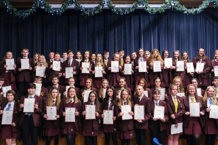 Duke of Edinburgh award winners at Montgomery School. Picture by Martin Bostock