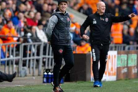 Joey Barton (left) claims Simon Grayson had advanced information on his team, though the Fleetwood boss did predict the Blackpool line-up