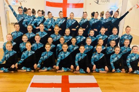 Members of Langley Dance Academy who will compete in the Dance World Cup in Rome next year