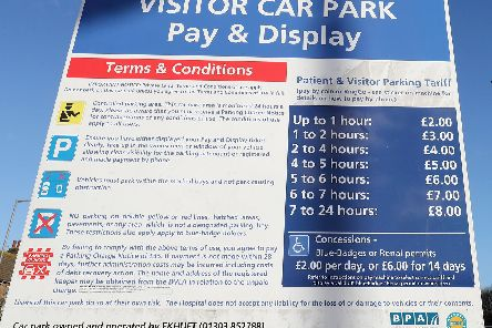 Hospital parking charges