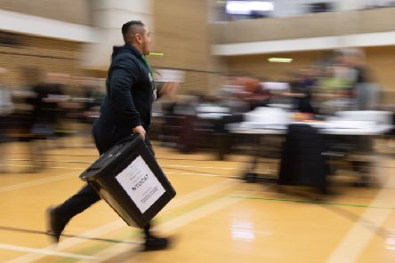 The 2019 general election counts are under way - and an exit poll predicts a Conservative majority. Photo: PA