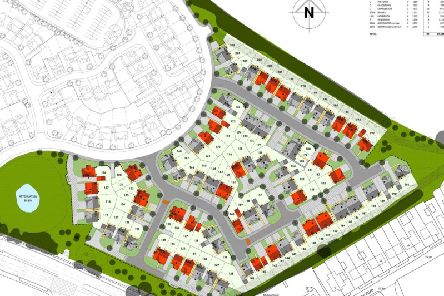 The layout of the proposed new homes