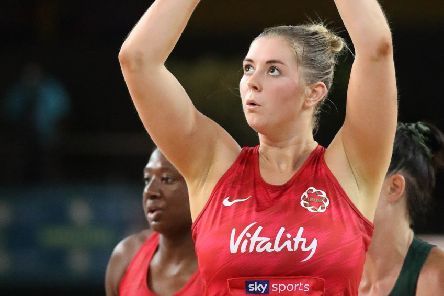 Eleanor Cardwell featured for England on Sunday