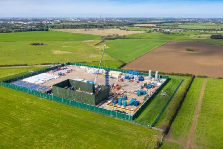 An aerial view of the Cuadrilla shale gas extraction (fracking) site at Preston New Road, near Blackpool (Christopher Furlong/Getty Images)