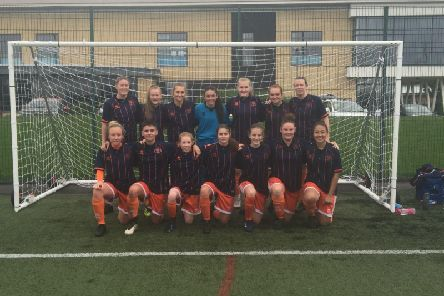 The winning Blackpool FC Ladies team