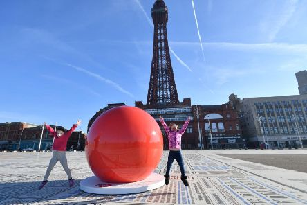 The giant red nose in Blackpool. Picture: Dave Nelson