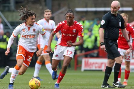 Nya Kirby made his first start in a Blackpool shirt