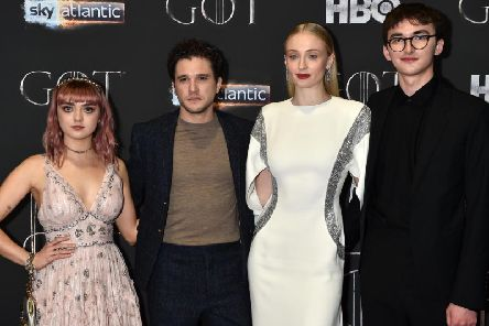 Maisie Williams, Kit Harington, Sophie Turner and Isaac Hempstead Wright (Photo by Charles McQuillan/Getty Images)